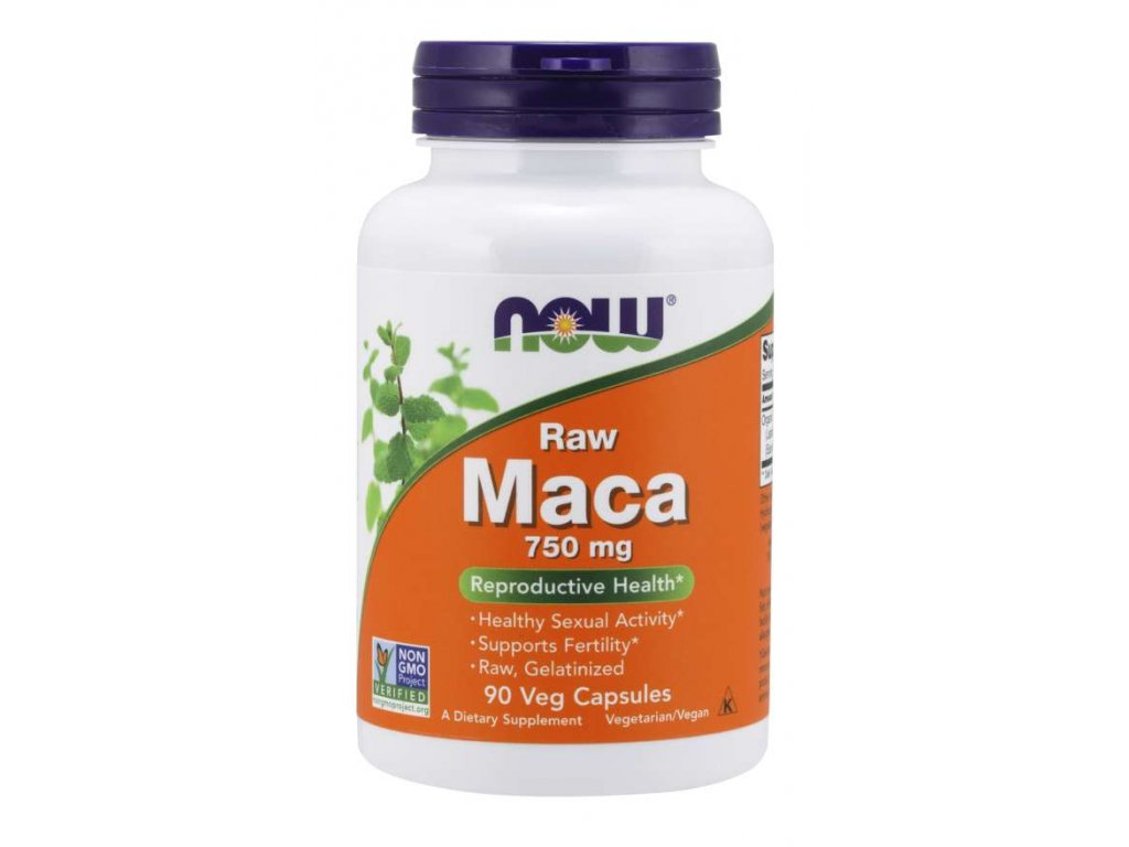 NOW Maca 750 mg, 90 kapslí