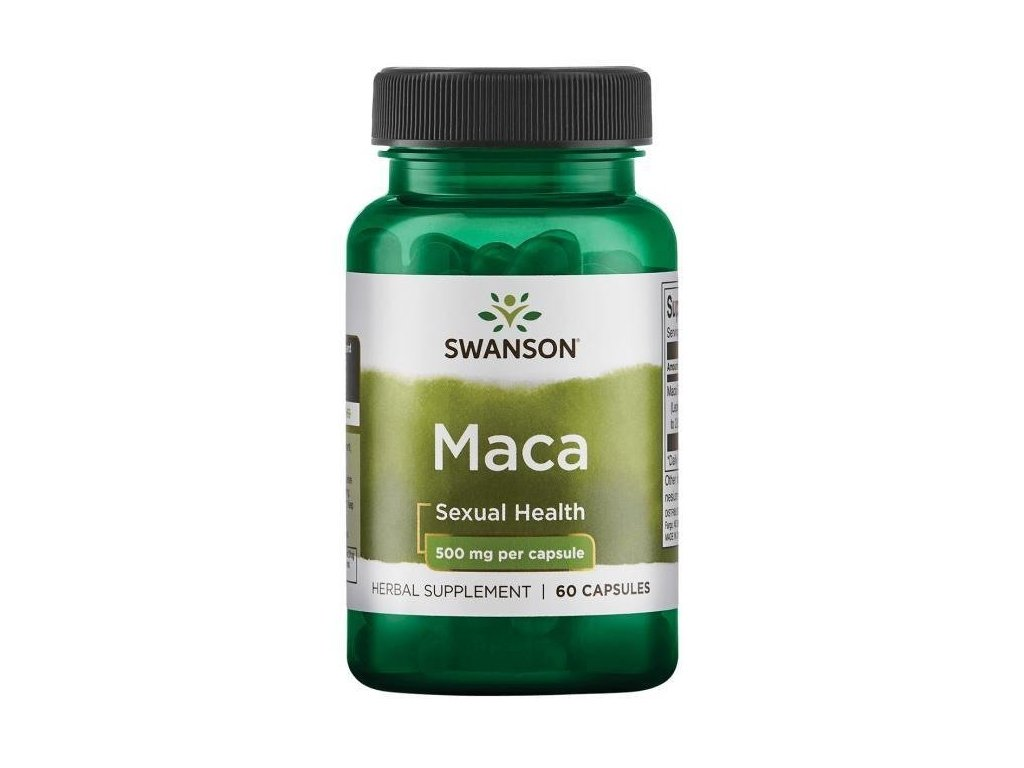 Swanson Maca Extrakt 500 mg, 60 kapslí